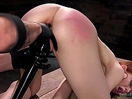 Skinny lassie answered several questions then got tied up and owned in pervert's basement 11