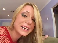Porn video where crazy Danish Denice K rides partner's erect thing with lustful pussy 9