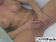 Graceful Capri Cavanni is taking hot shower and pays special attention to pussy 7