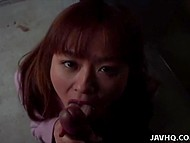 Guy made unshaven pussy wet then received awesome blowjob by attractive Japanese 4