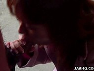 Guy made unshaven pussy wet then received awesome blowjob by attractive Japanese 9