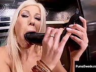 Swedish temptress Puma Swede cooks really rarely, so her kitchen is full of adult toys 9