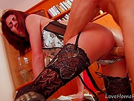French whore with long legs can't do professional massage but she is always ready for hard sex with clients
