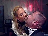 Tattooed bruiser had no idea about the upcoming punishment that raunchy mistress prepared for him 4