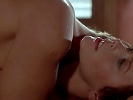 Fragment from vintage movie Goodbye Emmanuelle featuring good-looking Sylvia Kristel 4