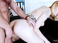 Tattooed honey was so provocative that man seized moment and fucked her 6
