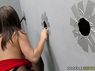 Bootylicious Abella Danger knows the use of holes in the wall and just waits for BBC to appear 5