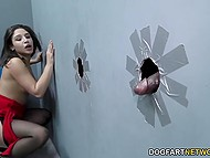 Bootylicious Abella Danger knows the use of holes in the wall and just waits for BBC to appear 8