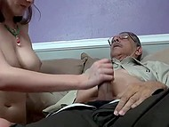 Big-tittied girl got drunk at private party and old male took the advantage of situation 5