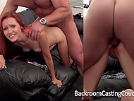 Skinny redhead says she is ready for anal at casting and porn agent immediately creampies tight hole