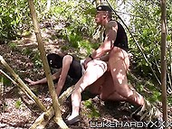 Military man meets strange girl and fucks her outdoors on condition that she stays anonymous