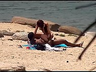 Ebony buddy finds nudist beach where petite chick isn't against some fun with him 7