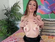 Cute girl doesn't hesitate to undress and demonstrate her attractive naked body on camera 4