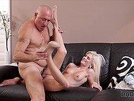 Risky blonde with top-class body seduced stepfather when boyfriend went out on business 7