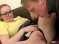 Cheerful chick actively fingered vagina and immediately agreed for sex with unexpected guest 4