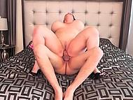 Luxurious BBW in high heels rides penis of experienced fucker in pleasant bedroom 7