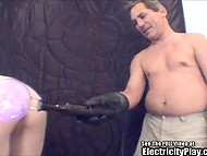 Experienced pervert tied a skinny girl and showed what is to play with electricity 9