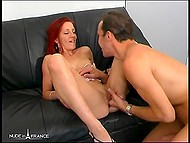 Provocative French with red hair masturbated her holes expecting male's dick inside tight butthole 4