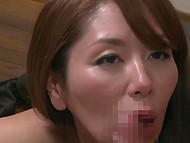 Japanese MILF notices young neighbor's attention and surprises him in shower 8