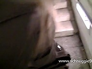 Boyfriend knows that blonde German girl likes to do dirty things on camera and often joins her 11