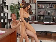 Youngster did everything possible to please huge-boobied boss Jaclyn Taylor in office 8