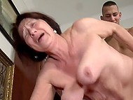 Old female didn't see hard dick for too long and pounced on young stick without many words 6