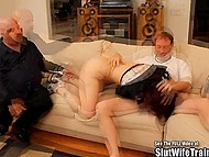 Man brought red-haired woman to experienced fucker to see if she can make his sexual dreams come true 5