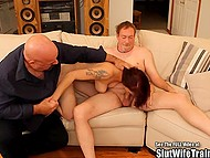 Man brought red-haired woman to experienced fucker to see if she can make his sexual dreams come true 8
