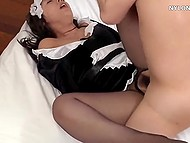 Every boss' desire must be fulfilled by Japanese housemaid even if it comes to pussy fucking 10