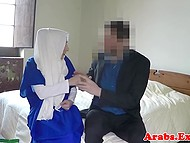 Arab female in hijab doesn't have enough cash to rent a hotel room but owner offers her good solution 4