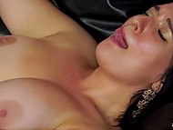 Curly Italian and his mature wife in stockings give the free rein to their lust in HD XXX video 10