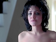 Bewitching Angelina Jolie exposes perfect breasts and strong booty in full-length movie 10