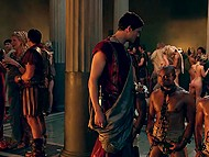 Scenes of group sex and crazy lust from movie 'Spartacus featuring Bonnie Sveen 8