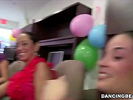 Black-skinned strippers come to hair salon, where stylists go breaking bad at hen-party 3