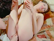 Retro porn video featuring young nymphomaniacs desiring nothing more than strong dick
