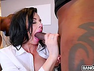 Provocative MILF wanted to distract so black machos arranged sex with double penetration 4