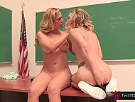 Chesty teacher Cherie Deville made adorable student stay after lesson to fool around 9
