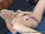 Swedish blonde MILF sets vibrator in motion every time she remains home alone 7