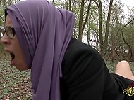 Partner has walk with Arab woman in forest, where takes her anal hole in backwoods 7
