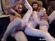 Guys stream threesome sex with creamy-skinned stepsister in pursuit of profit 7