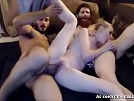 Guys stream threesome sex with creamy-skinned stepsister in pursuit of profit 9