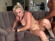 Black dude showed blonde beauty great cock and made her feel good in her husband's absence 6