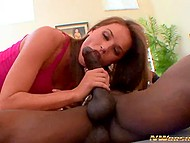 Hot thing Tori Black triggered black guy with glasses to fuck her and enjoyed his baton in full 6