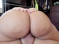 Experienced fucker fucked buxom Spanish and erupted sperm on her big oiled butt 5