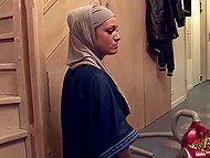 Arab concubine is obliged not just to clean rough man's house but also to suck his dick 8