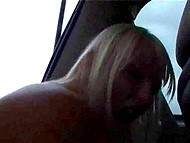 Blonde Swedish MILF is so turned on that does it in the car and on green lawn by the highway 10