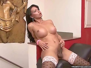 With such a curvy shapes long-haired ladyboy can find someone instead of feeding snake alone