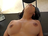 Latina with big boobs is fucked by lender and he promises that video will go on internet if she doesn't pay him 5