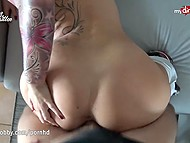 German chick with tattoos rewarded with lavish facial cumshot after doggystyle 5