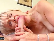 Lonely mature women seize every opportunity to give young guys blowjob 6